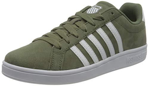 K-Swiss Herren Court TIEBREAK SDE Sneaker, DEEPLICHENGREEN/WHT, 42.5 EU