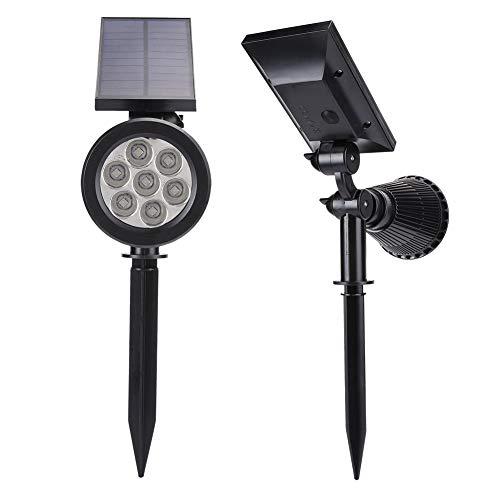 ?  ?ABS + ps material utomhus vägglampa, miljövänligt ljus justerbar Ip55 vattentät 7 LED solstrålkastare, bröllop trädgård solgång lampor