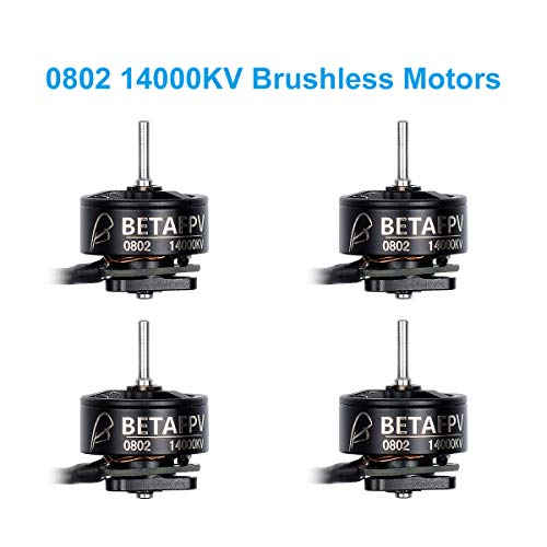 BETAFPV 4pcs 0802 14000KV Brushless Motors FPV RC Motors for 2S Brushless Micro Whoop Drone Beta65X 2S FPV Racing Drone Cine Whoop Quadcopter