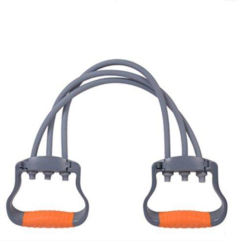 HHORD Poitrine Expander ABS 5 racines, 3 racines Latex tube appareil de bras homme femme élastique Fitness équipement ménage Multi fonction Sports Equipment Tensimeter Gray , 2#