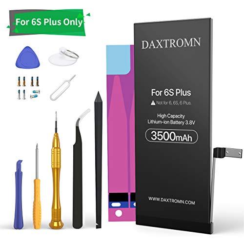 DAXTROMN Batteria per iPhone 6S Plus 3500mAh Alta Capacità con Kit Sostituzione e Adesivi - Batteria di Ricambio per iPhone 6s plus potenziata a1687
