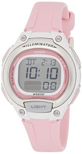 Relógio Feminino Casio Digital LW-203-4AVDF - Rosa/Branco