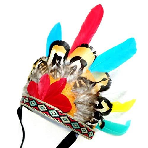 POPETPOP 1pcs diadema creativa hermosa cabeza aro lindo sombreros de plumas tocado para mascotas diadema para mascotas sombreros para mascotas para gatos mascotas perros