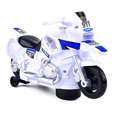 ALYHYB Motocicleta de dibujos animados para niños, moto eléctrica con luz y música, juguetes giratorios a batería, estilo motor, para niños y niñas cumpleaños Navidad