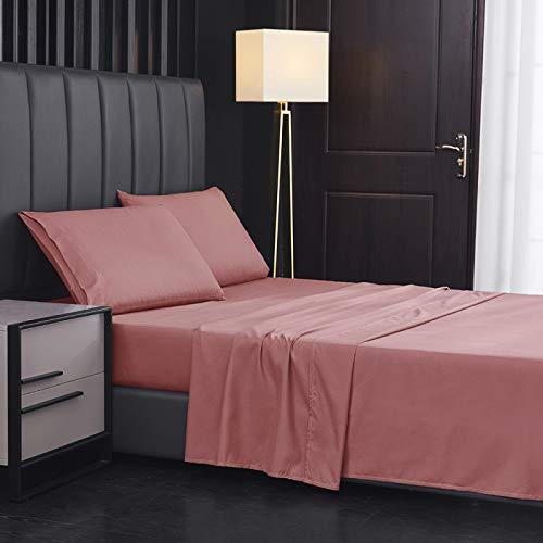 Sábanas de cama de algodón sábanas de calidad de hotel, California King (4 piezas)