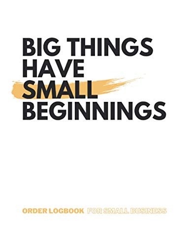 Libro de registro de pedidos para pequeñas empresas y nuevos emprendedores: Ordenar cuaderno  Registro de inventario comercial de 120 páginas de 8. 5 ... del pedido y detalles de estado y entrega