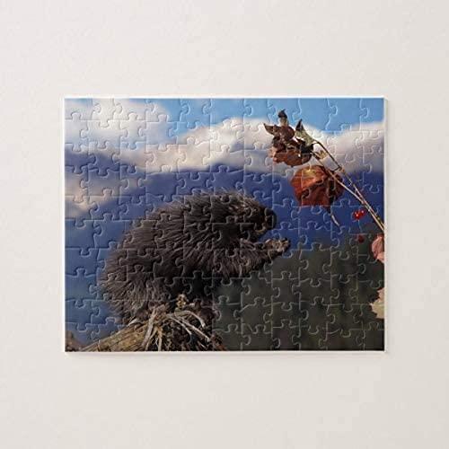 Puzzle da 500 pezzi per adulti Bambini Porcospino comune che mangia Pennello alto dell'Alaska Puzzle da 500 pezzi, puzzle per adulti e bambini Puzzle Decompressione intellettuale Giochi divertenti pe