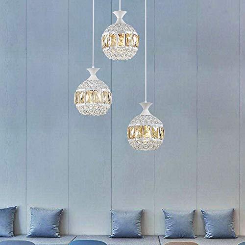 LED-lamp voor restaurant, hol, van glas van smeedijzer met drie Scandinavische koppen, afmetingen 15 m x 22 cm, lampen en lantaarns, café, bar, restaurant, slaapkamer, werkkamer,