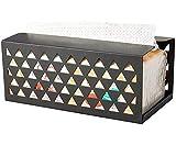 Scatola di carta per tovaglioli, Dispenser di asciugamani di carta da appoggio, Porta fazzoletti per cucina bagno, Porta fazzoletti, Dimensioni: 20,5X10,5X9 cm, Nero