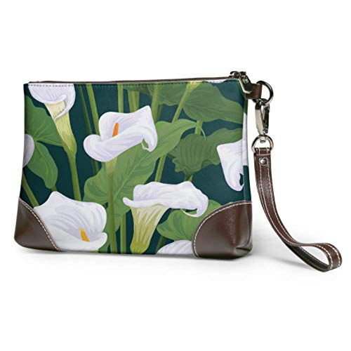 XCNGG Bolso de mano suave impermeable para mujer, bolso de mano elegante de moda de cuero de cala con cremallera para mujeres y niñas