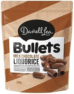 Darrell Lea Milk Chocolate Liquorice Bullets 250g x 12