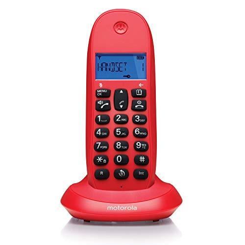 Telefono Inalambrico DECT MOTOROLA C1001 Rojo Cereza