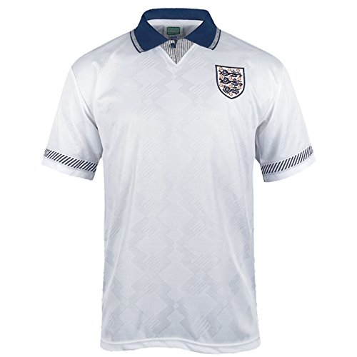 England Official Soccer Gift Mens 1990 World Cup Finals Home Shirt White Small