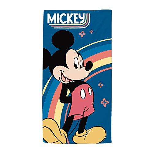 ARDITEX WD13617 Toalla de Microfibra de 70x140cm de Disney-Mickey