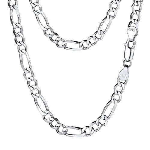 PROSTEEL Figaro 925 Chain Cadenas De Plata para Hombre Man Men Necklace Sterling Silver Chain Eboy Chains Necklaces 22inch