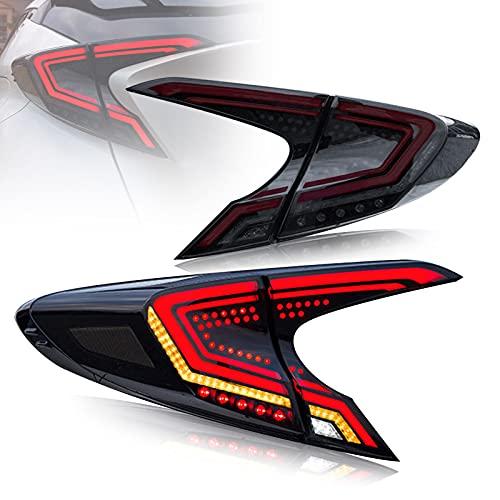 VLAND 3D LED Fanale posteriore compatibile per To-yota C-HR CHR SUV X1 2016-2021 Luci posteriori ,con indicatori di direzione sequenziali, illuminazione ad attivazione dinamica,Coppia