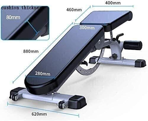 Product Image 8: ZYLHC Weight Bench Adjustable Strength Training Bench, Sit-Up Board, Abdominal Muscle Trainer, Mediate Commercial Professional Bench Press Bench Multi Functional Sit Ups Fitness Equipment