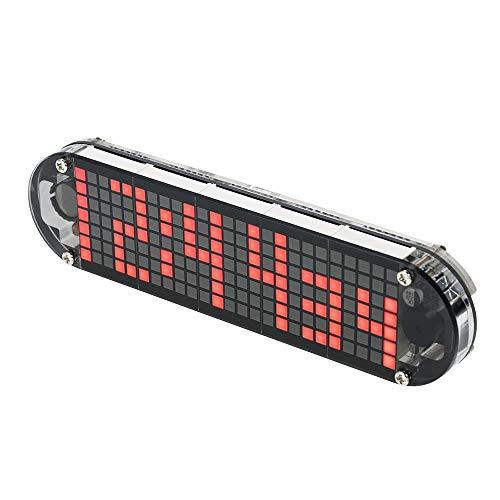 DIY DS3231 Hoge precisie-alarm, digitaal, puntmatrix, led-klok, set met transparante doos, temperatuur, datum, tijd, gereedschap en knutselwerk