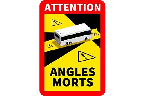 30 Stück Attention Angles Morts für Bus/Wohnwagen 25 x 17 cm Aufkleber Sticker Hinweiszeichen Schild Frankreich mit UV Schutz speziell für Außenbereich von STROBO