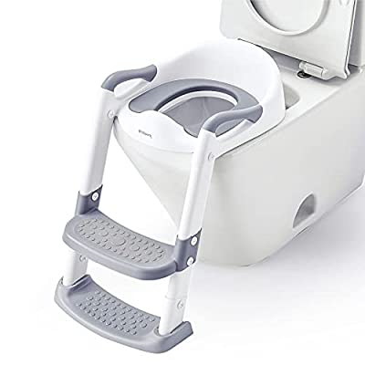 Bbpark Toddler Potty Training Seat with Ladder, Potty Seat Toilet Seat with Step Stool for Kids, Splash Guard and Anti-Slip Pad for Boys Girls from Bbpark