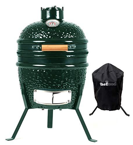 Chefood 13' Ceramic Kamado Portable BBQ Charcoal Grill With Cover