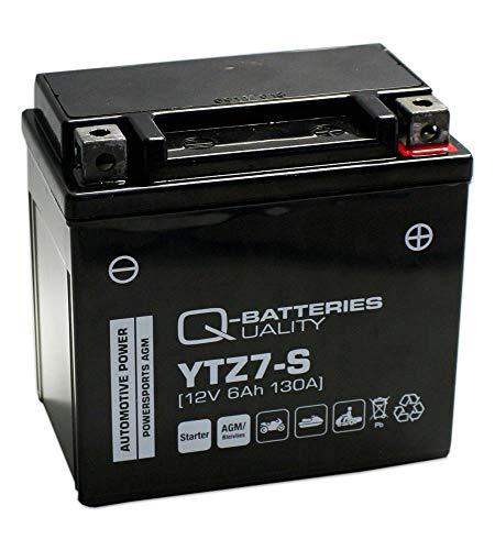 Q-Batteries Motorrad-Batterie YTZ7-S AGM 12V 6Ah 130A
