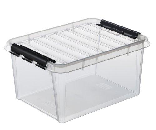 SmartStore 3508390 Classic-15 Aufbewahrungsbox mit Deckel, transparent, 14 L
