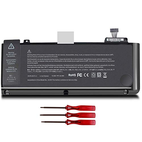 New A1322 A1278 Laptop Battery Compatible with MacBook Pro 13 inch 13' Mid 2012, Late 2011,Early 2011,Mid 2010, Mid 2009 MB990LL/A MB991LL/A MC375LL/A MC374LL/A MD314LL/A MC724LL/A MC700LL/A MD313LL/A