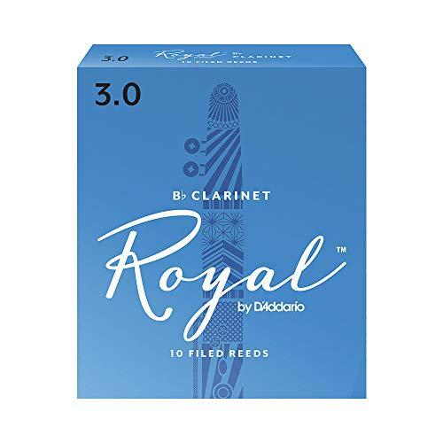 Royal Bb Clarinet Reeds, Strength 3.0, 10-pack