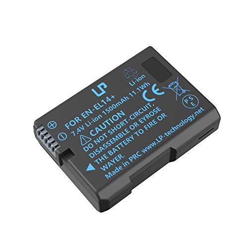 EN-EL14 EN EL14a Battery Rechargeable, LP Battery Compatible with Nikon D3500, D5600, D3300, D5100, D5500, D3100, D3200, D5200, D5300, D3400, DF, Coolpix P7000, P7100, P7700, P7800 Cameras & More