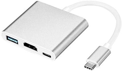 PiAEK 3 en 1 Tipo-C Adaptador HDMI USB 4K: Amazon.es: Electrónica