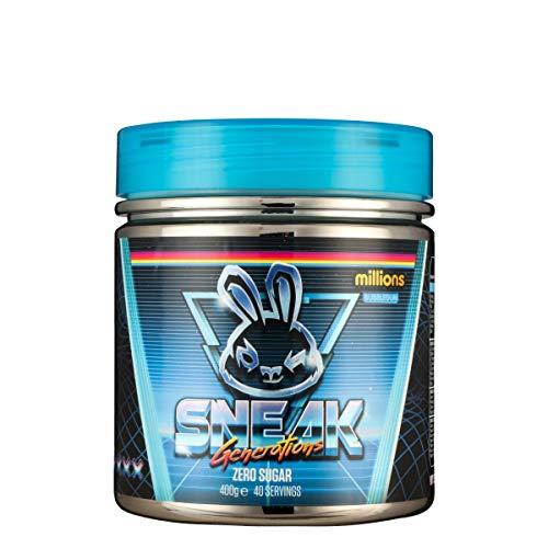 SNEAK | Bubblegum Millions Edition | In-Game Focus Boost Energy Drink, Zero Sugar, Low-Calorie, Vegan | 40 Servings