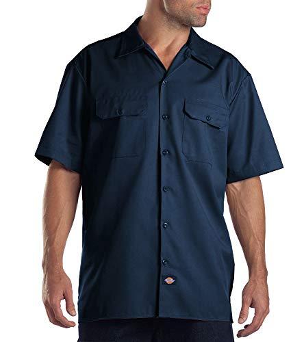 Dickies Herren Regular Fit Freizeit Hemd Shrt/S Work Shirt, Kurzarm, Blau (Navy Blue NV), Gr. Medium (Herstellergröße: M)