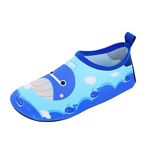 Julhold Niños Sandalias de bebé de dibujos animados ballena impermeable playas zapatos de verano, color, talla 26 EU