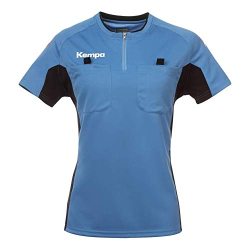 Kempa Damen Shirt Referee, fairblau/schwarz, XL, 200302702