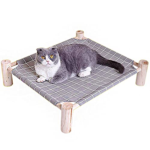 HITNEXT Erhöhtes Hundebett Katzenbett, erhöhtes Hundebett Haustierbett, Hundezwinger Welpen Kätzchen Feldbett für kleine / mittlere Hunde / Katzen (grau)