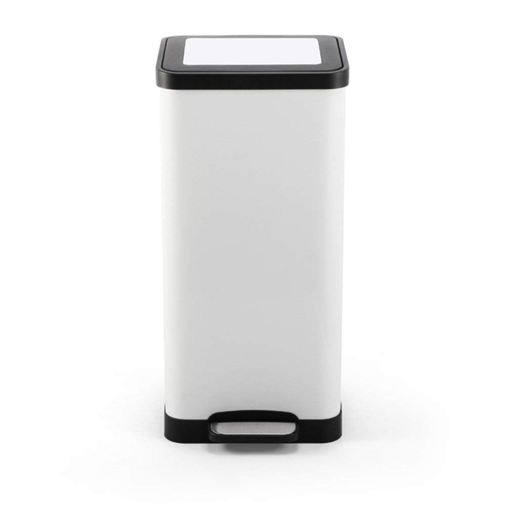 XJLJ Behälter Pedal Trash Can Edelstahl Abfalleimer Badezimmer