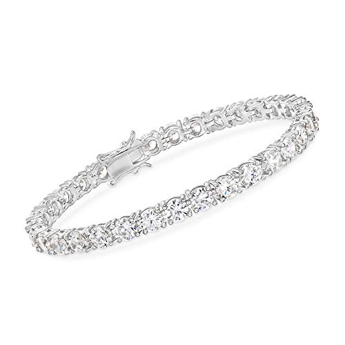 Ross-Simons 15.00 ct. t.w. CZ Tennis Bracelet in Sterling Silver. 7 inches