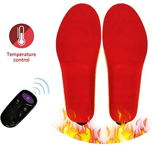nicololfle Hombres Mujeres Plantillas climatizadas Recargables por USB Plantillas eléctricas calentadas Calentador de pies Shoe-Pad Suelas térmicas para Deportes al Aire Libre en Interiores