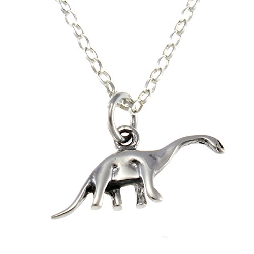 Sterling Silver Dinosaur Pendant Necklace With 18' Chain