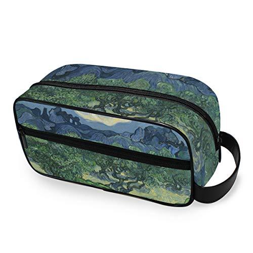 Outils Cosmétique Train Case Stockage Voyage Montagne Olive Tree Peinture Portable Maquillage Sac Mignon Trousse De Toilette