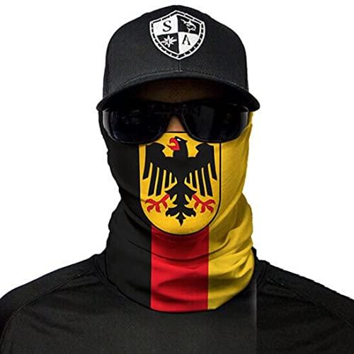 Mehrere Designs Multifunktionstuch Schlauchtuch Schal Maske Kälteschutzmaske Halloween Skifahren Snowboard Angeln Jagen Fahrrad Motorrad Paintball (Germany Flag)