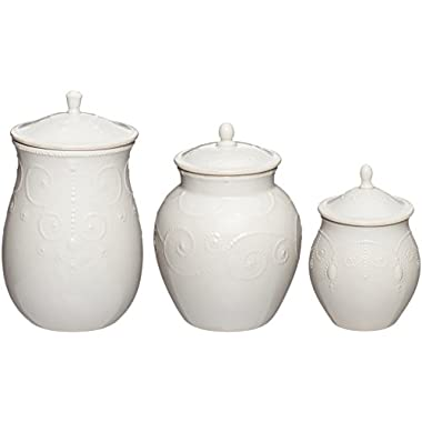 Lenox French Perle Canisters, Set of 3, White