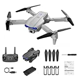 Drones for Adults 4k Camera, 5G WiFi GPS Drone Brushless FPV Drone RC 1KM, Foldable Drone with 5GHz FPV Live Video RC Quadcopter with Auto Return Home (Gray)