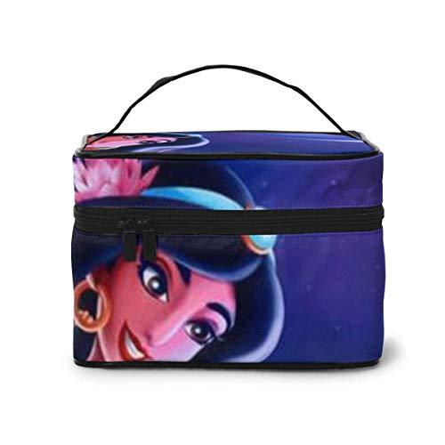 Bolsa de maquillaje Jasmine Princ y Tiger portátil de viaje Bolsa de aseo grande organizador de malla B para mujeres y niñas