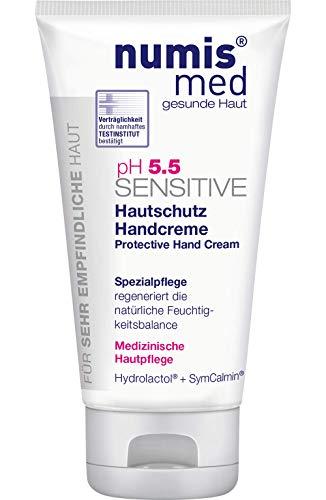 numis med Hautschutz Handcreme ph 5.5 SENSITIVE - Hautpflege vegan - Handcreme für sensible, feuchtigkeitsarme & zu Allergien neigende Haut - Hand Creme (1x 75 ml)