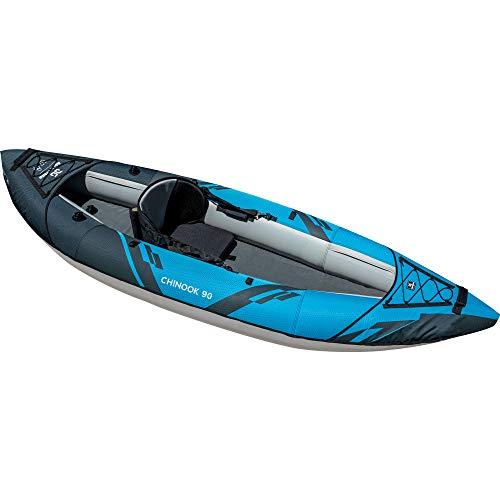AQUAGLIDE Chinook 90 Inflatable Kayak, 1 Person, Multicolor, Medium