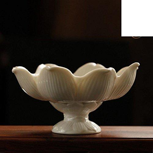 JYXJJKK Plateau De Fruit Assiette De Fruits en Porcelaine Blanche