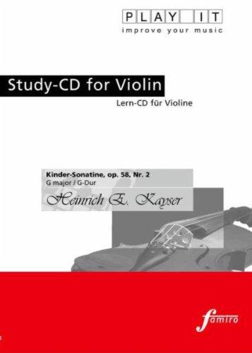Play It - Study-Cd for Violin: Heinrich E. Kayser, Kinder-Sonatine, Op. 58, No. 2, G Major / G-Dur