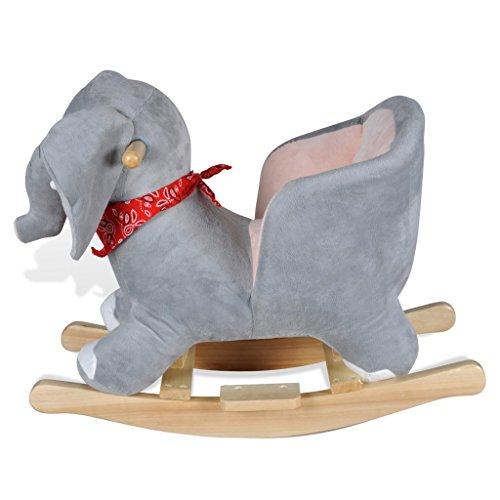 vidaXL Schaukeltier Schaukelpferd Elefantschaukel Tier Schaukelelefant Spielzeug - 3
